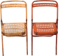 Preview: French folding chairs Vintage 60s
