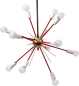Preview: Stilnovo chandelier living room light Sputnik lamp 1950 Vintage