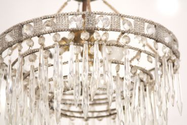 French coral chandelier crystal chandelier