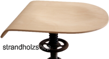 Chair seat plate Beech replacement panel Swivel stool Industrial stool Architectural chair Shape glued 8 mm