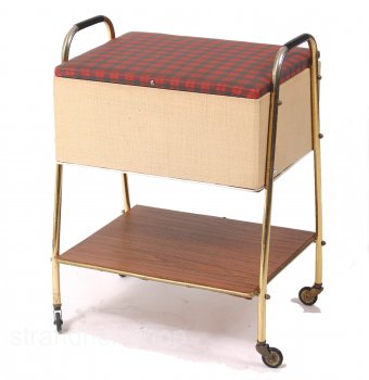 Storage table with rolls 60s Vintage
