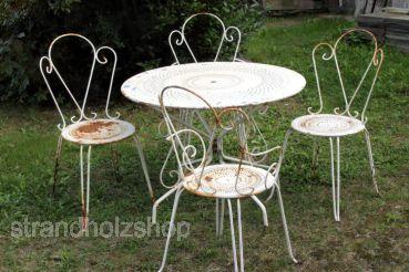 Jardin, chaise, table, fer, balcon, terasse,jardin - strandholzshop ...