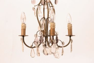 Old Chandelier Crystal Chandelier Chandelier Chandelier Brass France # 1