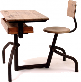Jean Prouve School Bench Table Chair France