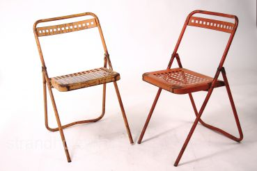 French folding chairs Vintage 60s