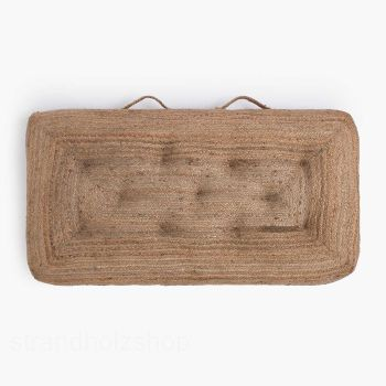 Jute floor cushion Ural 120x60x13cm