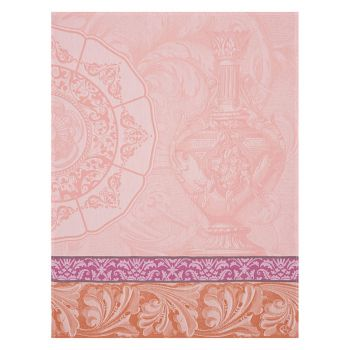 Le Jacquard Francais Tea Towel Baroque Porcelaine Rose