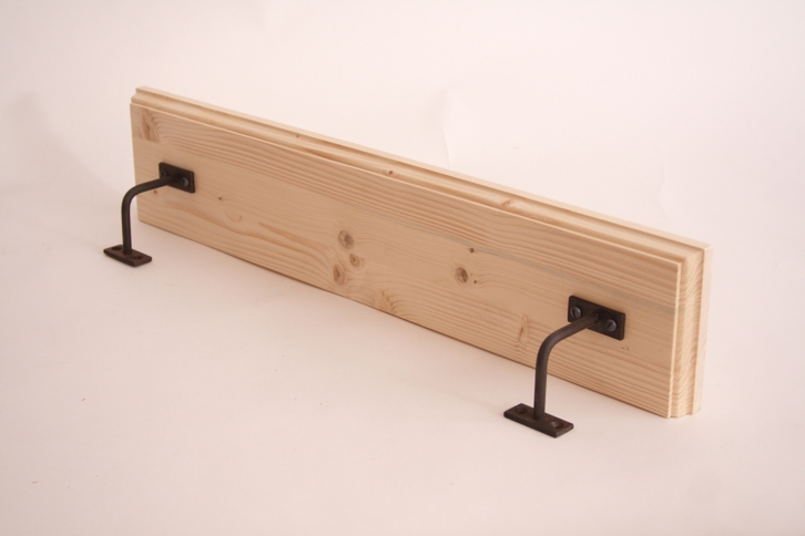 holz regal wandboard massivholz ablagbrett 98cm. Black Bedroom Furniture Sets. Home Design Ideas