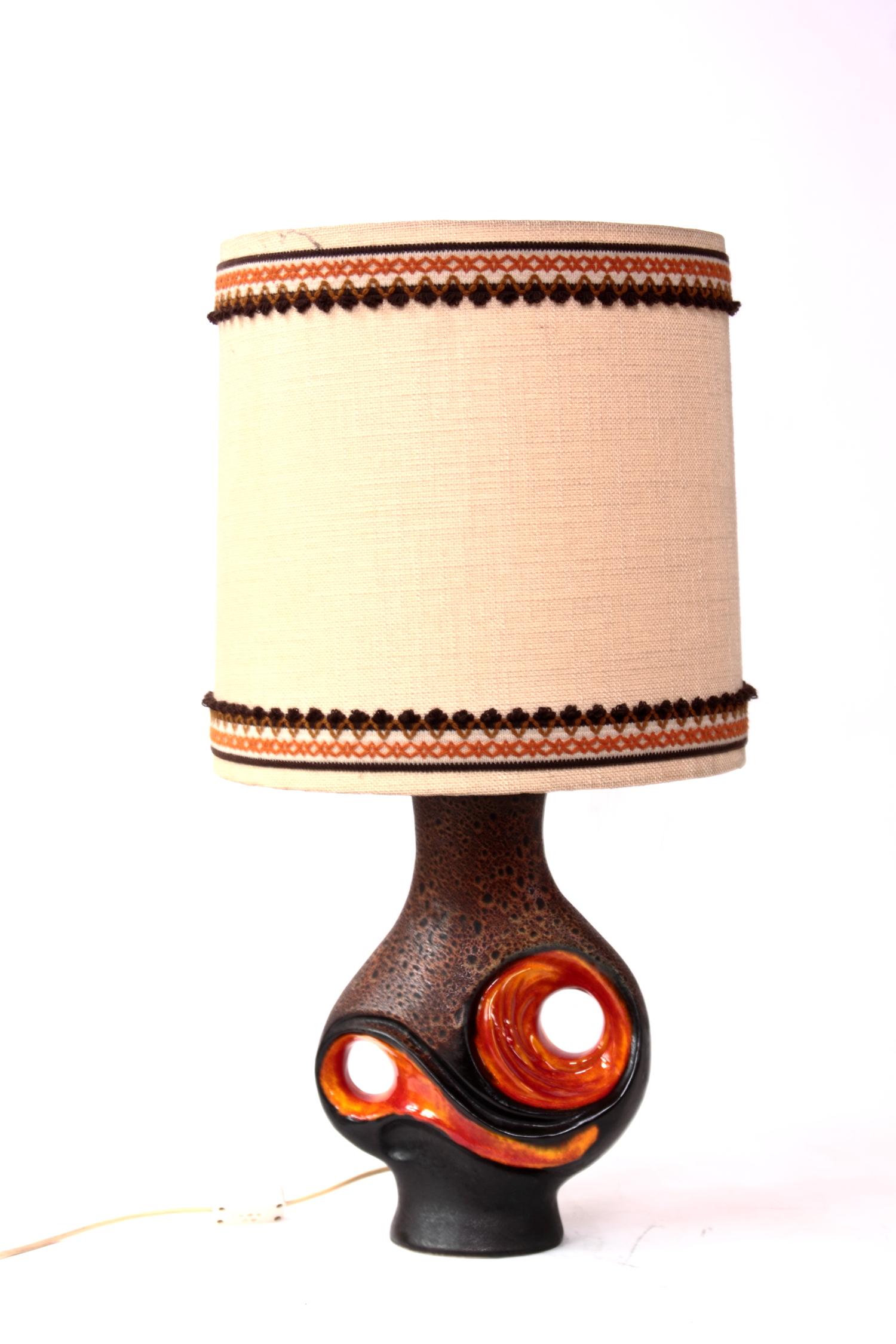 Stehlampe Tischlampe Lampe Vintage 70er Jahre Lampenfuss