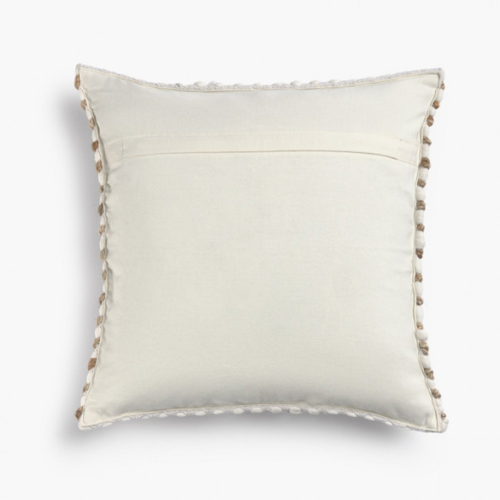 Cushion cover Jute60x60cm Fiesta White