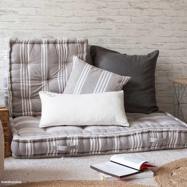 bodenkissen palettenkissen matratze kissen rodas gray 120x60x13 cm strandholzshop vintage. Black Bedroom Furniture Sets. Home Design Ideas