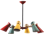 Diabolo Chandelier Torch lamp Sputnik lamp Stilnovo Pierre Guariche